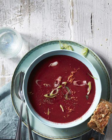 Food styling, beetroot soup, Boodschappen