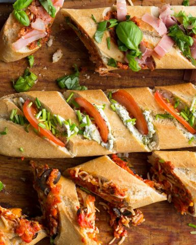 Food styling, French loaf, Boodschappen