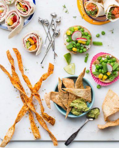 Food styling, snacks, Boodschappen