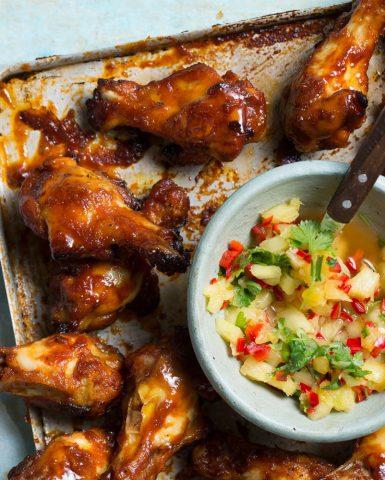 food styling, sticky chicken, boodschappen